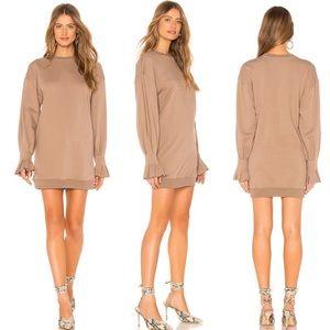 Revolve L'Academie The Ashley Dress Tan Beige XS